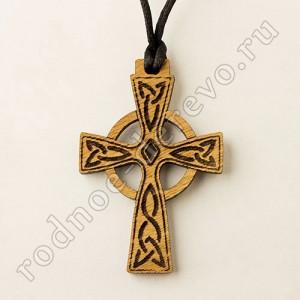 Кельтский крест из дуба