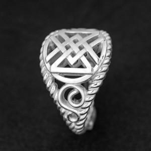 Кольцо с рунами Дагаз Ингуз